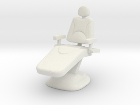 Dentist Chair 1/12 in White Natural Versatile Plastic