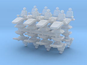 Dentist Chair (x16) 1/144 in Smooth Fine Detail Plastic