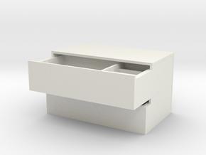 Multi-plate dishware(drawer) in White Natural Versatile Plastic: Small