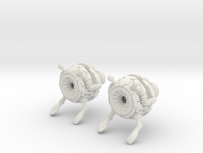 Bot Earrings in White Natural Versatile Plastic