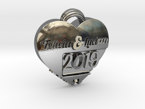 Custom Hearth pendant in Fine Detail Polished Silver