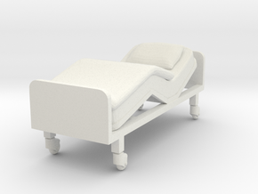 Hospital Bed 1/43 in White Natural Versatile Plastic