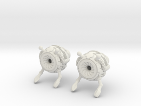 Bot Earrings (Small) in White Natural Versatile Plastic