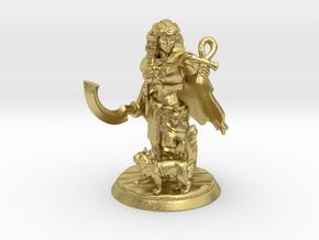 Egyptian Queen Miniature in Natural Brass