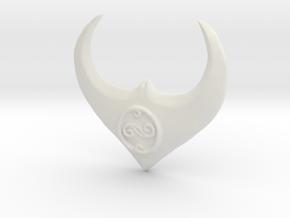 Goblin King Pendant in White Natural Versatile Plastic