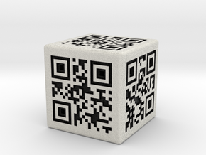 QR Code Die in Full Color Sandstone