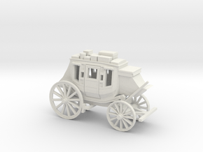HO Scale Stagecoach in White Natural Versatile Plastic