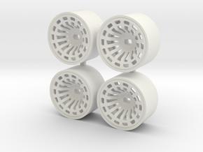 DELTA 4WD REAR + 1 in White Natural Versatile Plastic