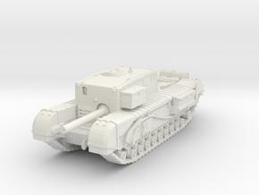 Churchill Gun Carrier 1/87 in White Natural Versatile Plastic