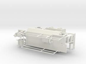 1/64th Hydroseeder 20' Sprayer Trailer in White Natural Versatile Plastic
