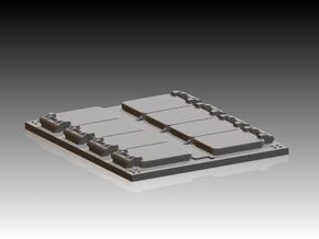 4 x VLS Launcher 8 Cell Segment 1/310 in Smooth Fine Detail Plastic