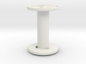 stringreel Diameter 4, 6 wide in White Natural Versatile Plastic