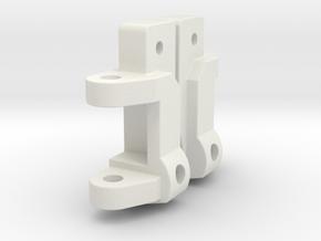 Team Associated RC10 Part# 6213 15 Degree Caster B in White Natural Versatile Plastic