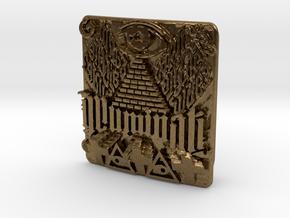 Illuminati Belt Buckle in Natural Bronze