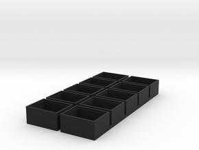 single insert 18x13 speaker box 9.5mm deep qty10  in Black Natural Versatile Plastic