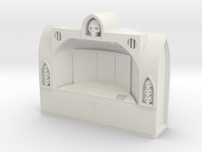 Large Gothic Computer Terminal in White Natural Versatile Plastic