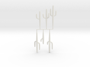 HO-Scale Saguaro Collection 01 in White Strong & Flexible
