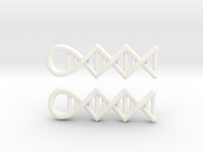 DNA earrings in White Strong & Flexible Polished
