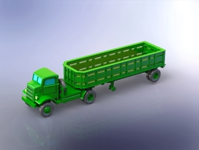 Autocar U-7144-T Truck w. 10to Trailer I 1/144 in Smooth Fine Detail Plastic