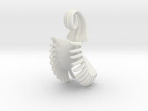 Venus Fly Trap Pendant in White Natural Versatile Plastic
