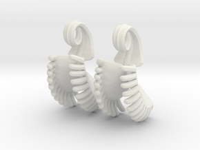 Venus Fly Trap Earrings (Small) in White Natural Versatile Plastic