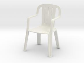 Plastic Chair 1/120 in White Natural Versatile Plastic