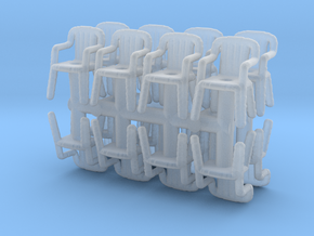 Plastic Chair (x16) 1/120 in Smooth Fine Detail Plastic