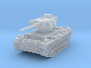 Panzer III M 1/200 in Smooth Fine Detail Plastic