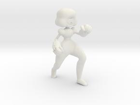 Super cool Space Woman in White Natural Versatile Plastic