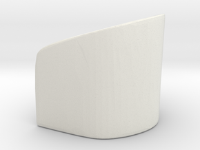 Rounded Chair 1/48 in White Natural Versatile Plastic