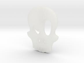 Eyebrow Skull Pendant in Smooth Fine Detail Plastic
