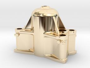Bethlehem Steel Cast Forging Press Upper Head in 14k Gold Plated Brass: 1:64 - S