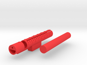 Wire Cutting Jig in Red Processed Versatile Plastic