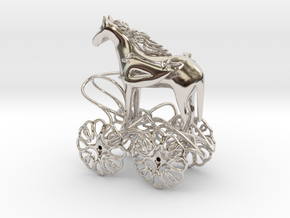Trojan horse in Rhodium Plated Brass