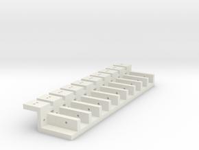 led houder klein dubbel in White Natural Versatile Plastic