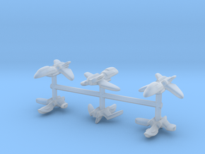 Anime Fleetscale Fighters in Smooth Fine Detail Plastic