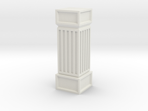 Stone Column Square in White Natural Versatile Plastic
