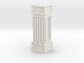 Stone Column Square in White Natural Versatile Plastic