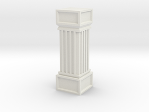 Stone Column in White Natural Versatile Plastic