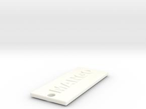 MANGOLLAMAx1.5 in White Processed Versatile Plastic