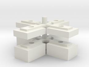 "Tamiya Lunch Box Body Riser Set - 0.125"", 0.25"", 0 in White Natural Versatile Plastic"