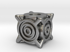 Concentric Die in Natural Silver