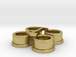 Felgen für Herpa-Lenkung, 4-fach in Natural Brass