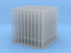 Stanchions - set of 100 - HOscale in Smooth Fine Detail Plastic