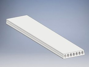 Hollow core precast concrete slab 1:50 in White Natural Versatile Plastic