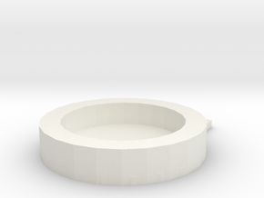 Mirror key ring in White Natural Versatile Plastic