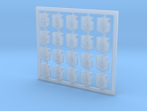 Knights Of Iron Shoulder Shield Set in Smooth Fine Detail Plastic