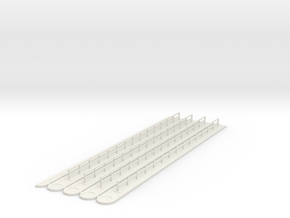 Loading Lane Dividers N scale in White Natural Versatile Plastic