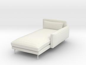 1:24 Sofa in White Natural Versatile Plastic