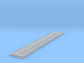 Nameplate USS Mississippi SSN-782 in Smoothest Fine Detail Plastic